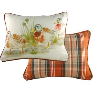Country Ducklings Cushion Cover