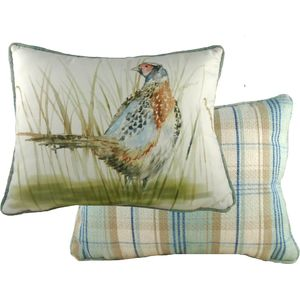 Evans Lichfield Country Collection Piped Cushion: Pheasant 43cm x 33cm
