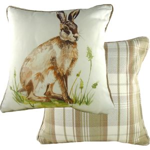 """Country Hare Cushion Cover 17x17"""""""