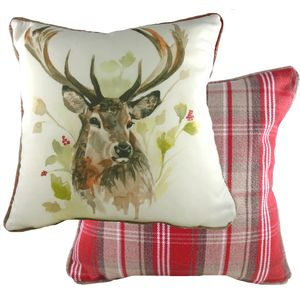 Evans Lichfield Country Collection Piped Cushion: Stag 43cm x 43cm