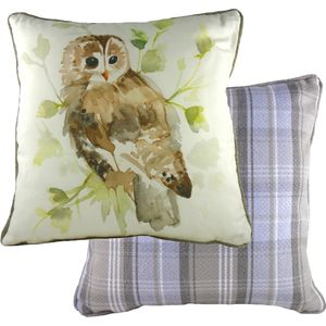 """Country Owl Cushion Cover 17x17"""""""