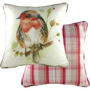 Country Robin Cushion Cover 17x17""