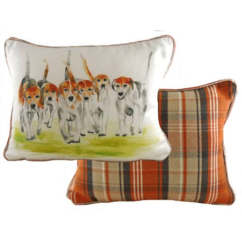 Evans Lichfield Country Collection Piped Cushion: Beagles 43cm x 33cm