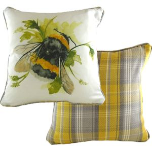 Country Bumble Bee Cushion Cover