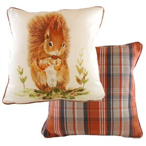 Country Red Squirrel Cushion Cover