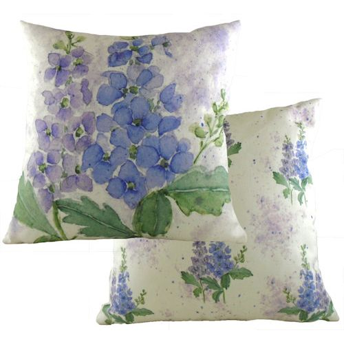 Evans Lichfield Florals Collection Cushion: Delphinium 43cm x 43cm