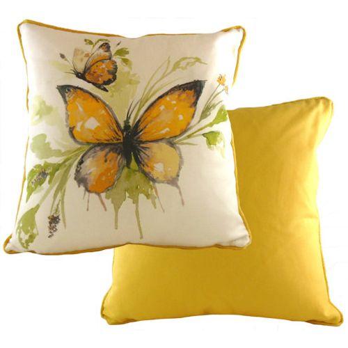 Evans Lichfield Papillon Collection Piped Cushion: Saffron 43cm x 43cm