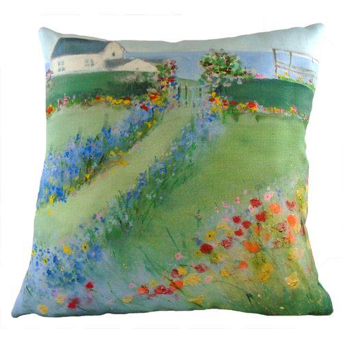 Evans Lichfield Sue Fenlon Cushion: Seaside Garden 43cm