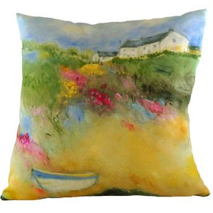 Sue Fenlon Summer Boats Cushion Cover