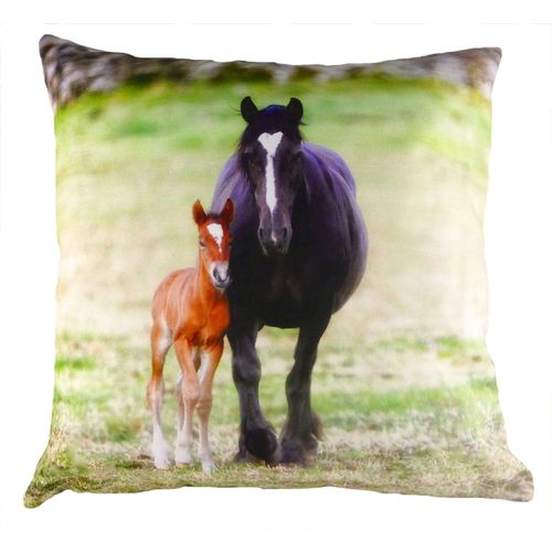 Evans Lichfield Villager Jim Filled Cushion: Me & My Mum - Mare & Foal