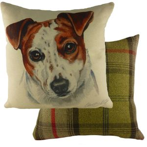 """Evans Lichfield Waggydogz Cushion Cover: Jack Russell 17x17"""""""