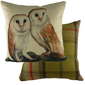 Evans Lichfield Waggydogz Cushion Cover: Owls 17x17""