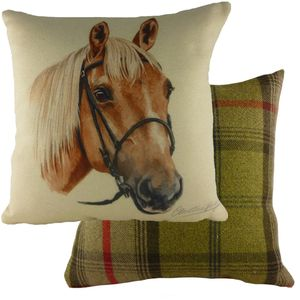 "Evans Lichfield Waggydogz Cushion Cover: Horse 17x17"""