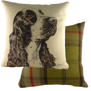 "Evans Lichfield Waggydogz Cushion Cover: Cocker Spaniel 17x17"""