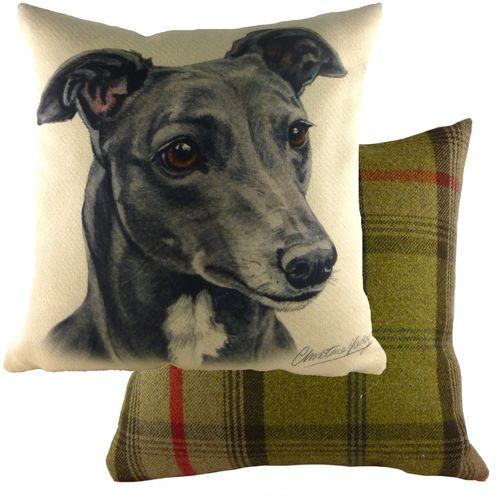 Evans Lichfield Waggydogz Cushion: Greyhound 43cm x 43cm
