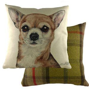 "Evans Lichfield Waggydogz Cushion Cover: Chihuahua 17x17"""