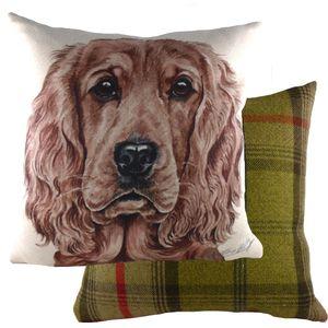 "Waggydogz Golden Cocker Spaniel Cushion Cover 17x17"""