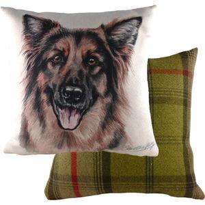 Evans Lichfield Waggydogz Cushion Cover: German Shepherd