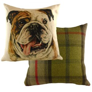 Waggydogz Bulldog Cushion 17x17""