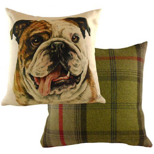 Evans Lichfield Waggydogz Cushion: Bulldog 43cm x 43cm