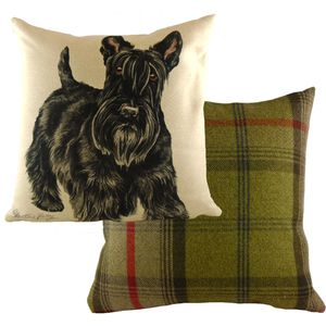 "Evans Lichfield Waggydogz Cushion Cover: Scottish Terrier 17x17"""