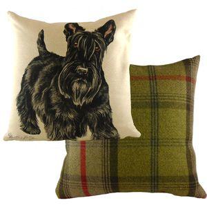 "Waggydogz Scottish Terrier Cushion Cover 17x17"""