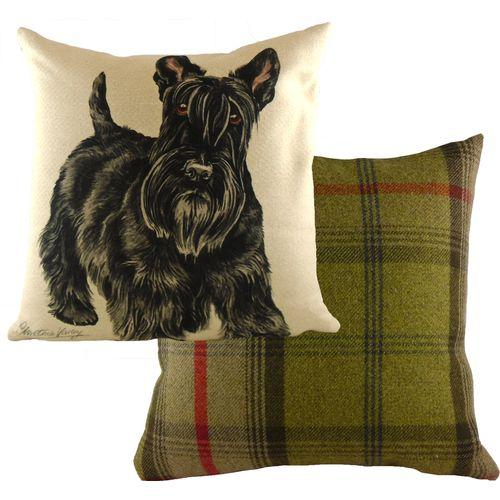 Evans Lichfield Waggydogz Cushion: Scottish Terrier 43cm x 43cm