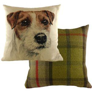 Evans Lichfield Waggydogz Cushion Cover: Parson Jack Russell 17x172