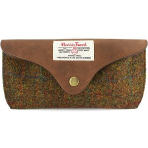 Harris Tweed Glasses Case: Stornoway Brown Check