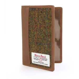 Harris Tweed Passport Holder Leather Trim: Stornoway