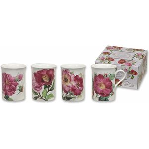 Heath McCabe China Mugs Set of 4 - Pink Roses