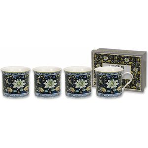 Heath McCabe Empress Fine China Mugs Set of 4 - Maiolica Blue Giallo