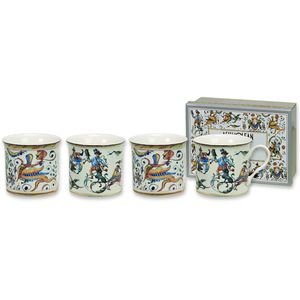 Empress Maiolica Cocciatte Set of 4 Mugs