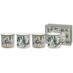 Heath McCabe Empress Fine China Mugs Set of 4 - Maiolica Cocciatte