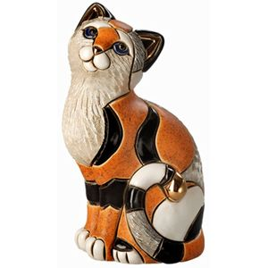 De Rosa Orange Calico Cat Figurine