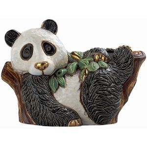 De Rosa Panda on Tree Figurine