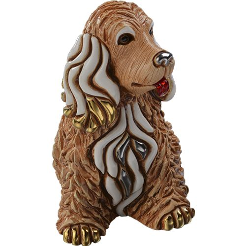 De Rosa Cocker Brown Dog Figurine F190