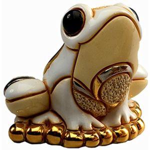 De Rosa Baby White Frog Figurine