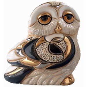 De Rosa Baby Snowy Owl Figurine