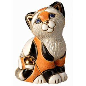 De Rosa Orange Calico Kitten Figurine