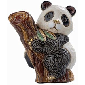 De Rosa Baby Panda on Tree Figurine