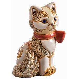 De Rosa Kitten with Ribbon Figurine