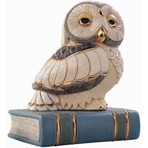 De Rosa Owl on Book Figurine