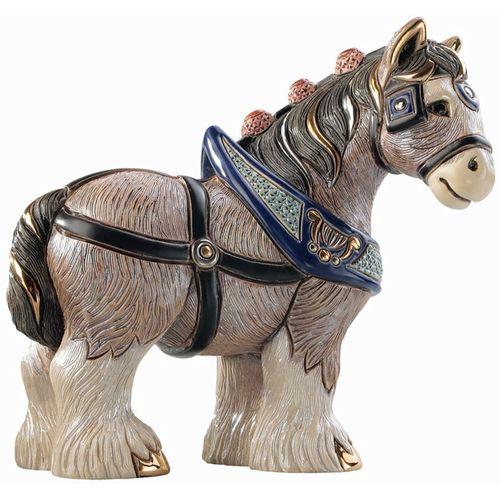 De Rosa Clydesdale Horse Figurine 1026