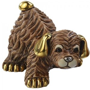 De Rosa Baby Brown Dog Figurine