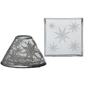 Yankee Candle Shade & Plate Set Arctic Snowflake (LRG)