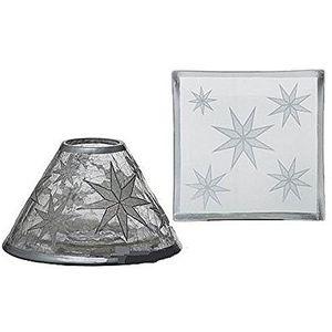 Yankee Candle Shade & Tray Set - Arctic Snowflake (LRG)