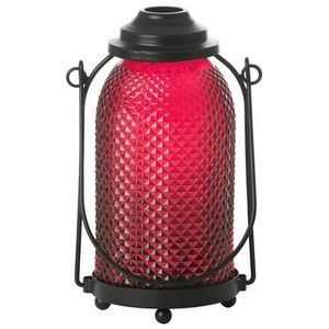 Yankee Candle Glass Lantern Candle Holder - Maroon