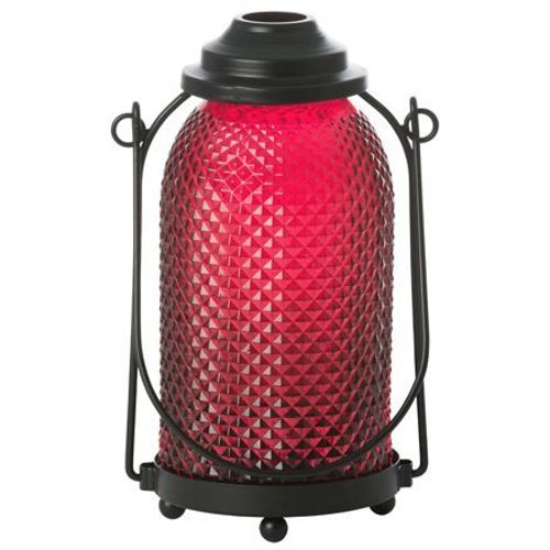 Yankee Candle Glass Lantern Candle Holder - Maroon