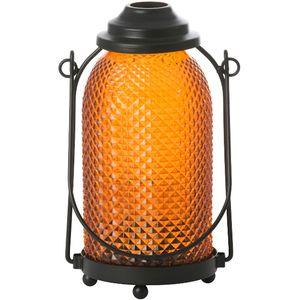 Yankee Candle Glass Lantern Candle Holder - Orange